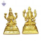 Laxmi and Ganesh in Brass