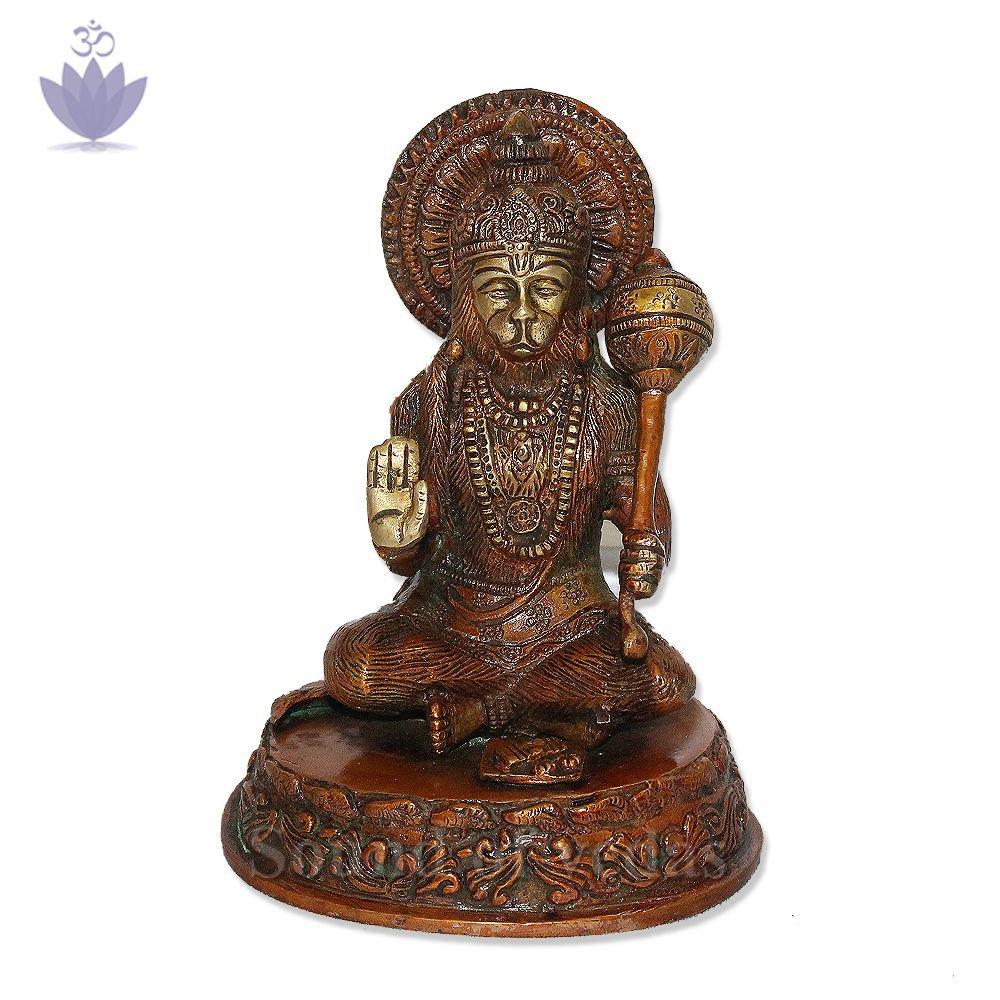 Lord Maruti Sitting Posture Murti