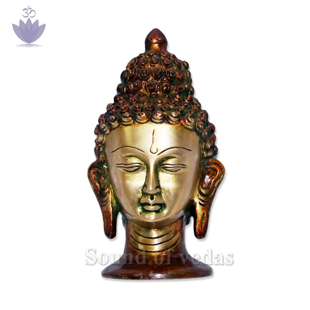 Lord Buddha Head Brass Face IN