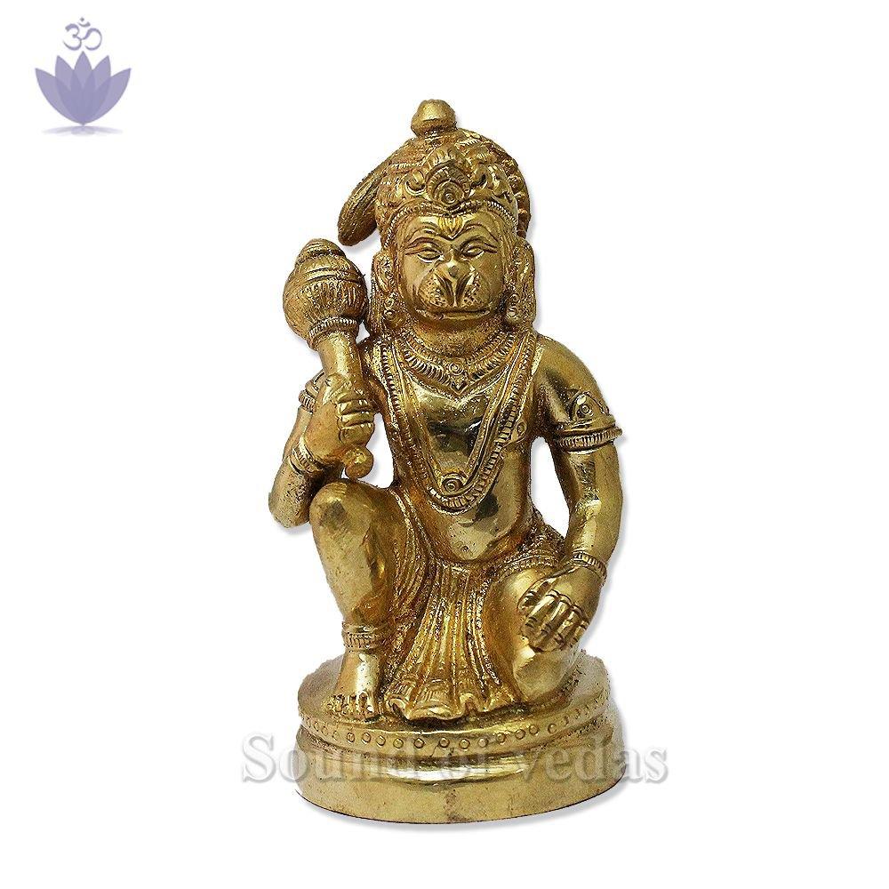 Lord Hanuman Murti in Sitting Posture