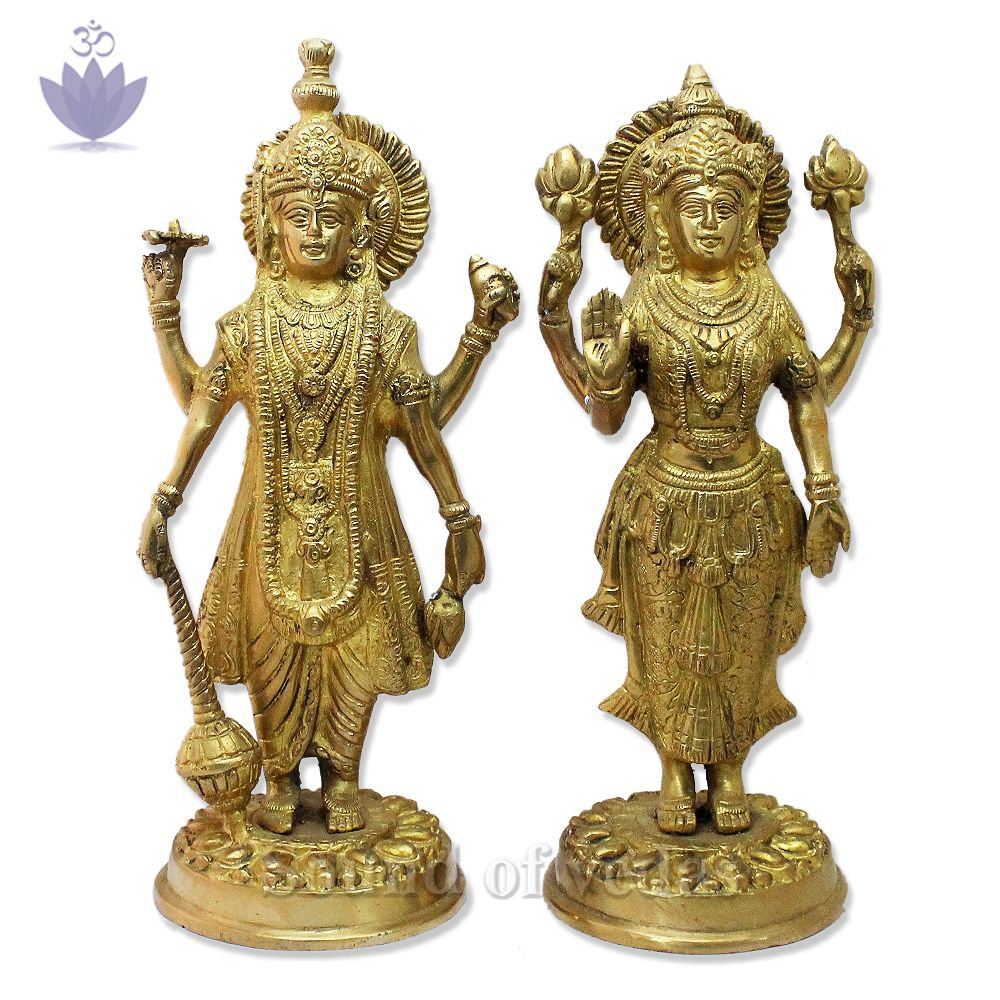 Lord Laxmi Narayan Sculpture in Brass