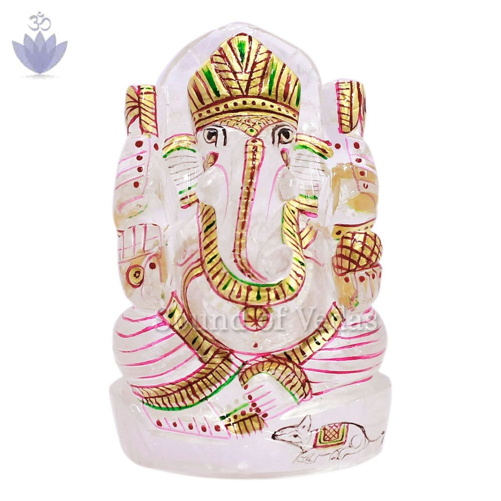 Lord Ganesha Idol in Natural Crystal