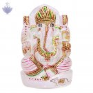 Lord Ganesha Idol in Natural Crystal