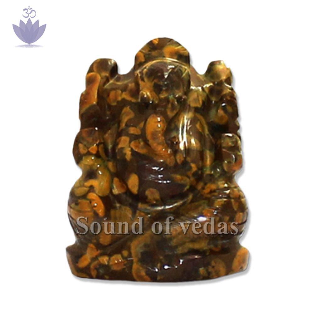 Abundance Ganesha figurine in Jasper Stone