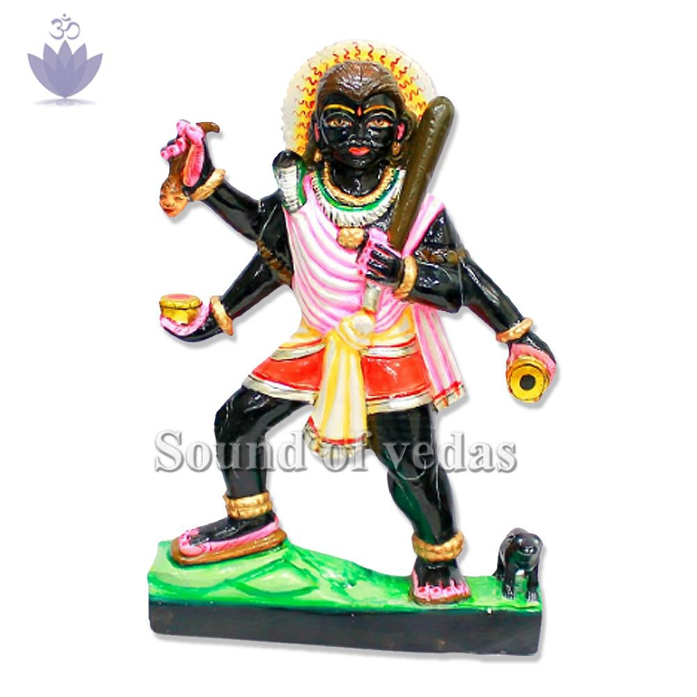 Lord Bhairav Statue in Black Marble Stone
