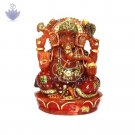 Hancrafted Ganapati Idol in Aventurine Gemstone