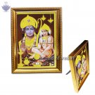 Hanuman Photo with Lord Ram in Golden Frame