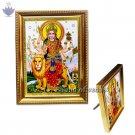 Goddes Durga Maa Frame In Golden