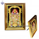 Tirupati Balaji Photo in Golden Frame