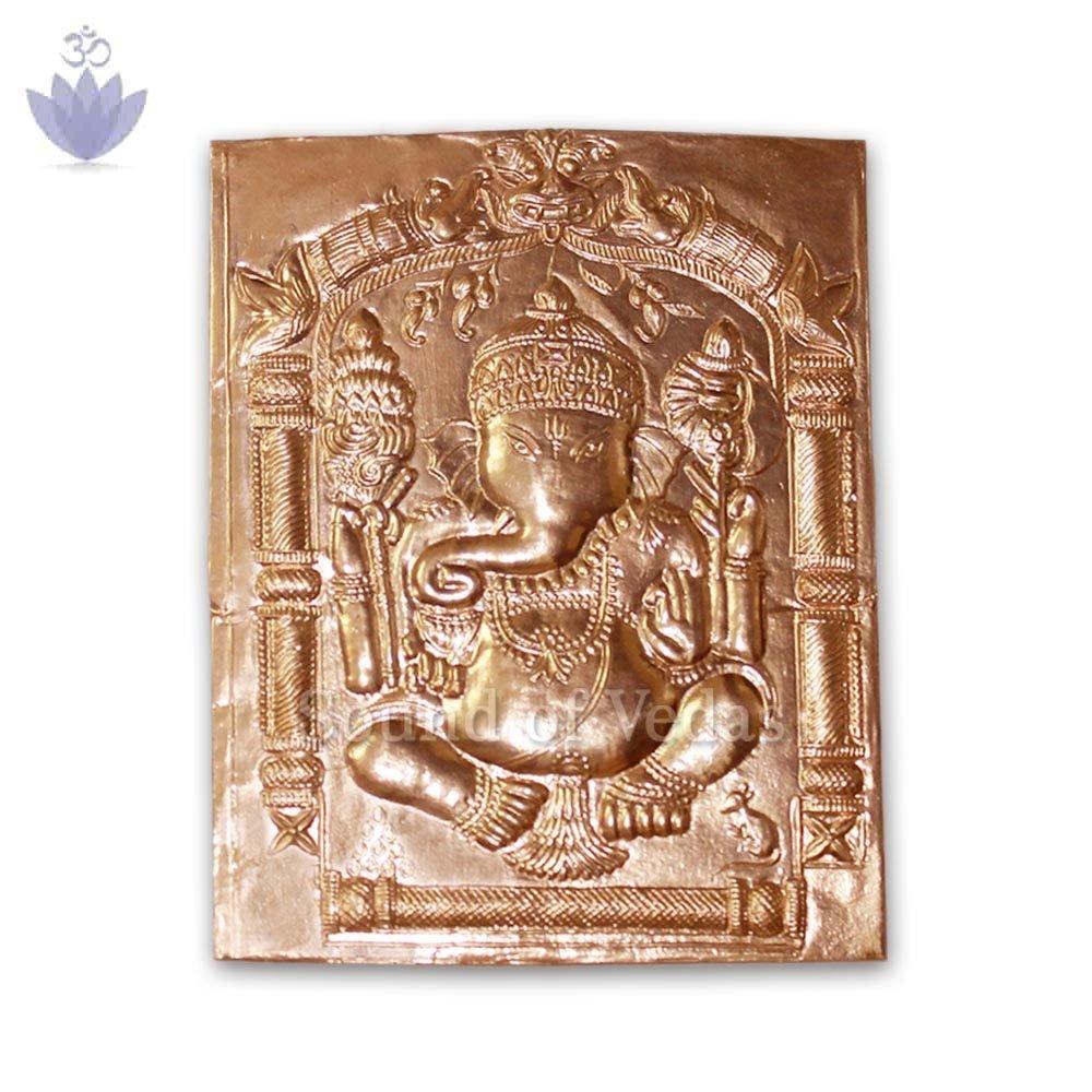 Lord Siddhivinayak Pratima In Copper