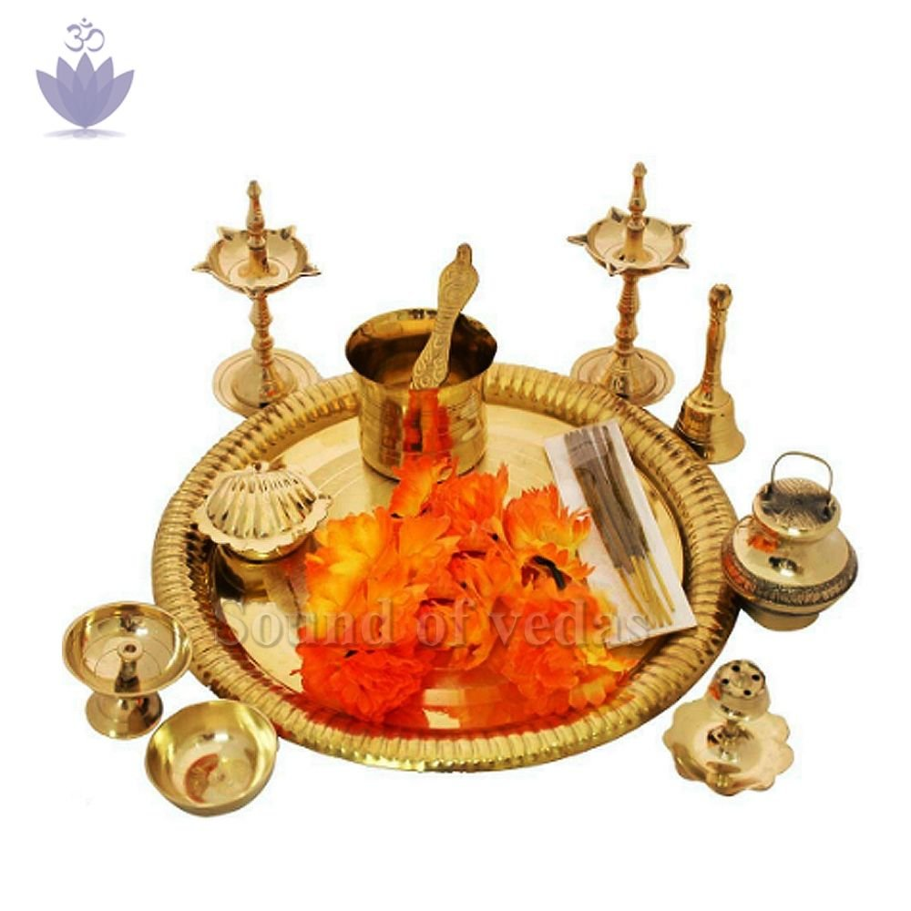 Ladoo Gopal Idol Puja Thali