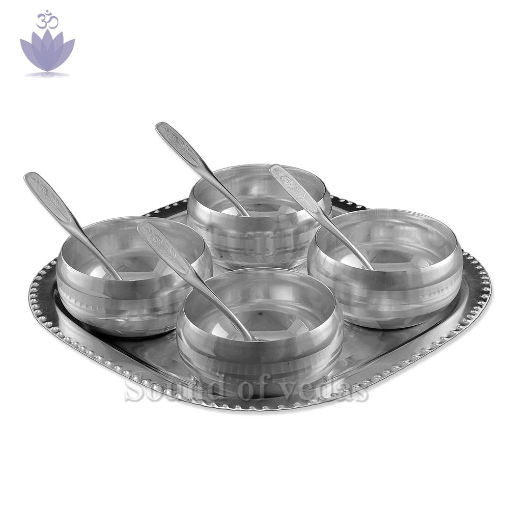 Puja bowls with tray