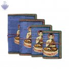Buddha Painted Handmade Paper Dairy - set of 4