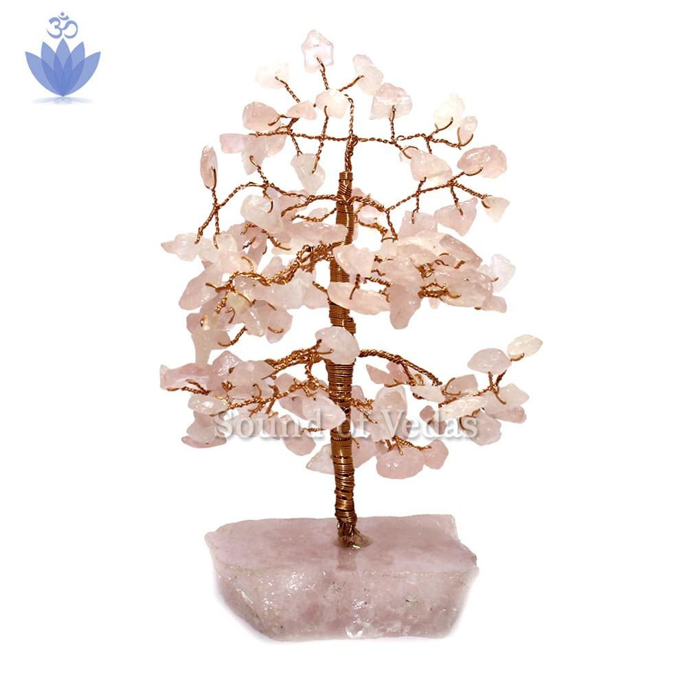 Feng shui Tree for Obstacle in Rose Quartz Gemstone
