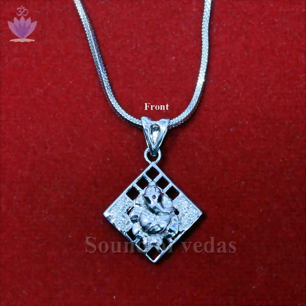 Silver Locket of Lord Ganesha in Box Design
