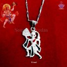 Pure Silver Hanuman Locket with Silver Chain