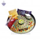 Decorated Pooja Thali with Rakhi
