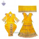Yellow Color Elegant Dress for Radhe Krishna Idol