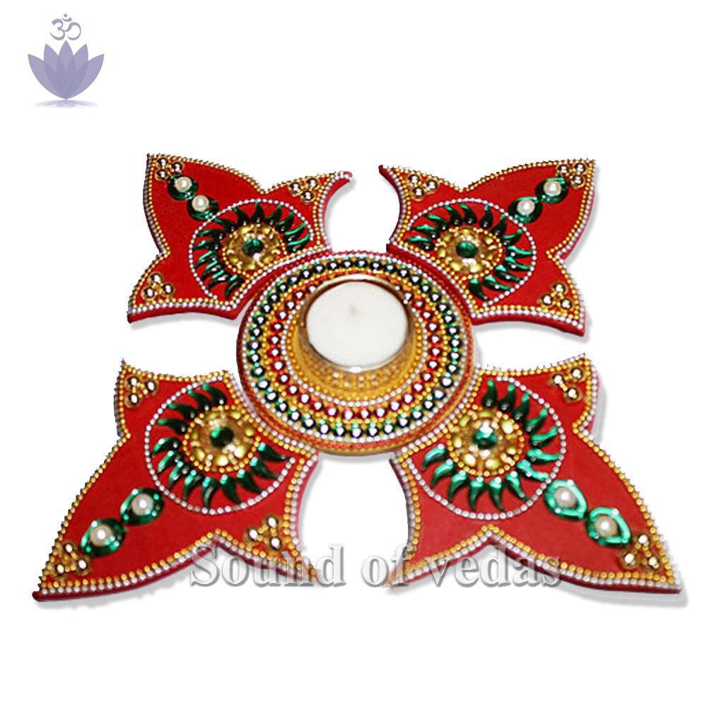 Kalash Shape Acrylic Rangoli