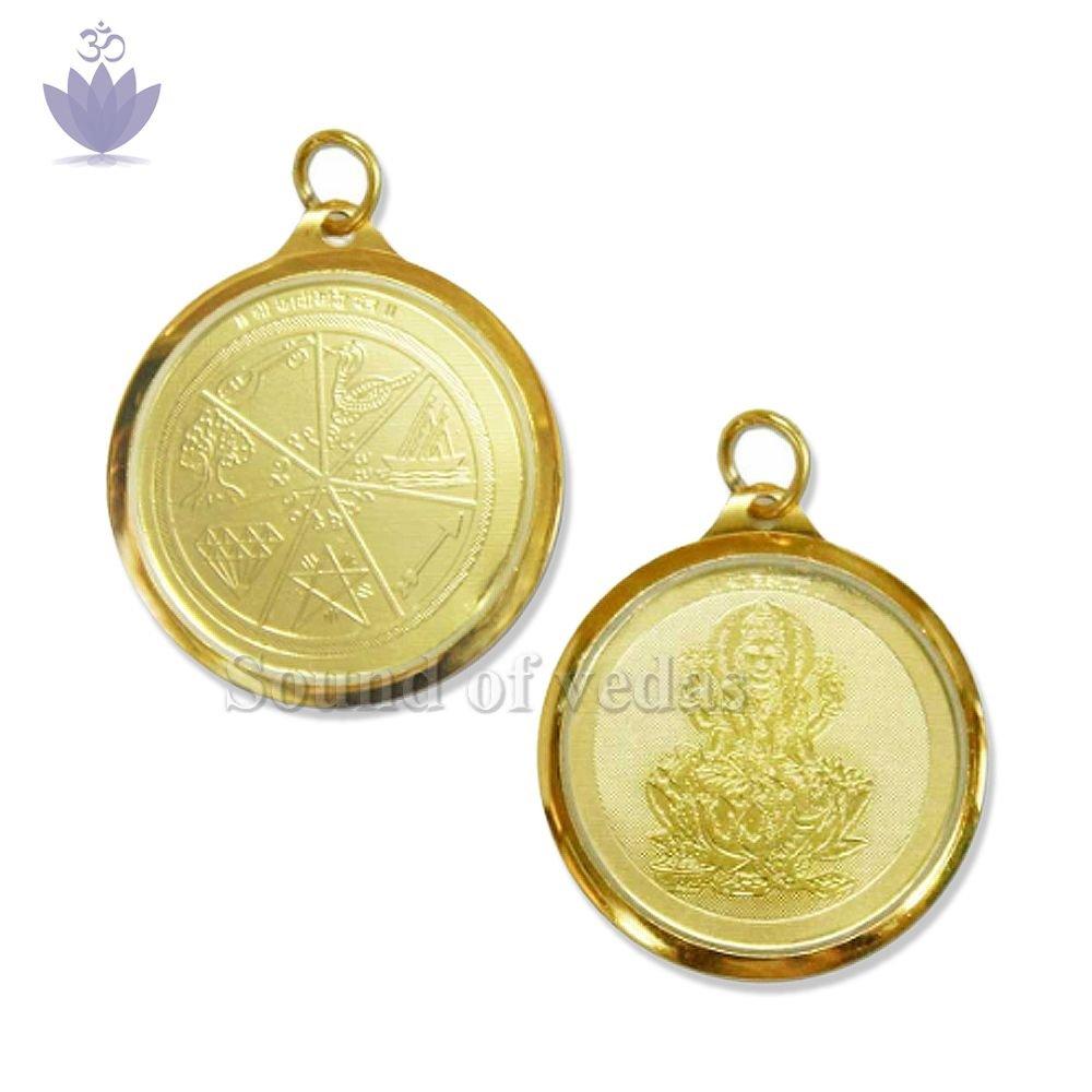 Karya Siddhi Yantra Locket in Copper Gold Plated