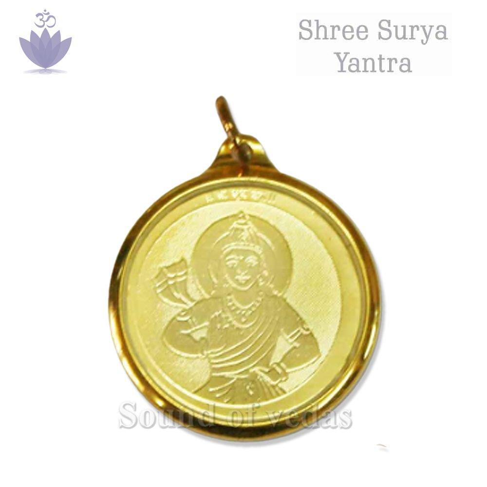 Surya Yantra Pendant in Copper