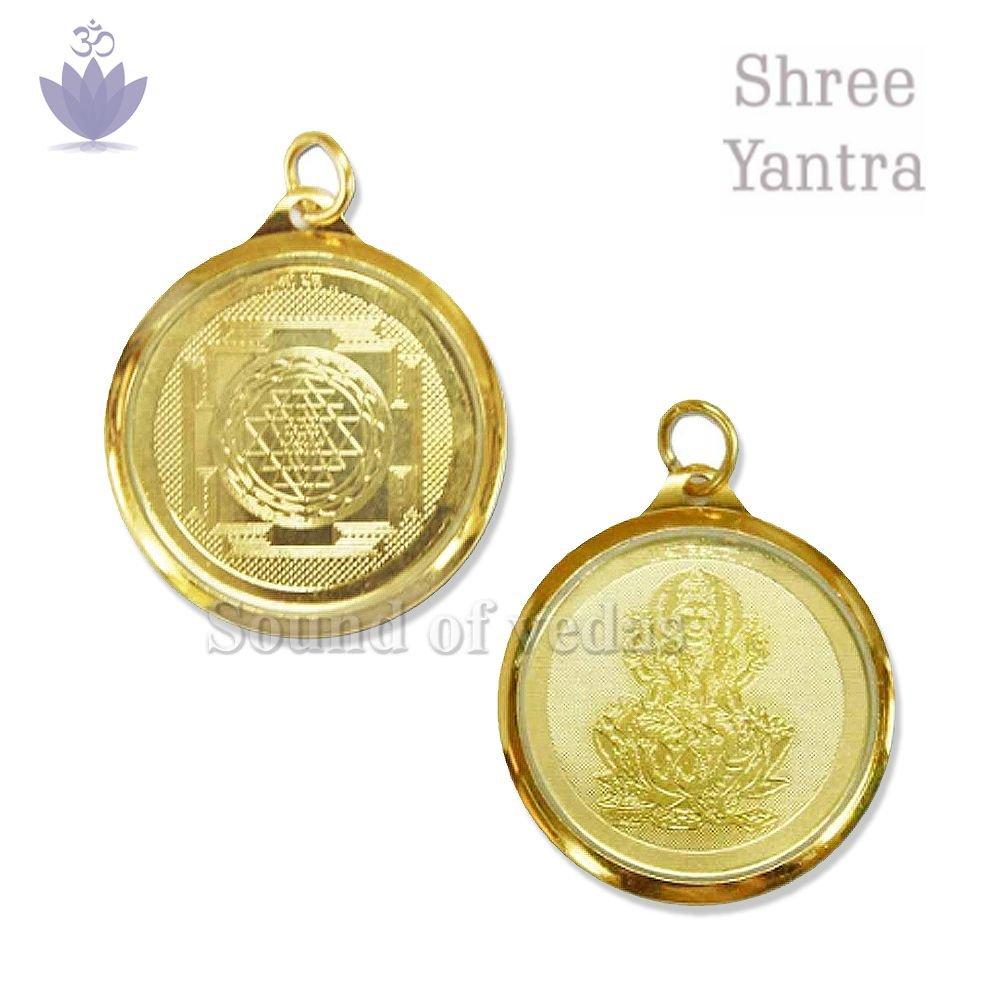Shree Yantra Pendant in Copper Gold Plated