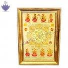 Goddess Ashtalakshmi with Shree Yantra Frame
