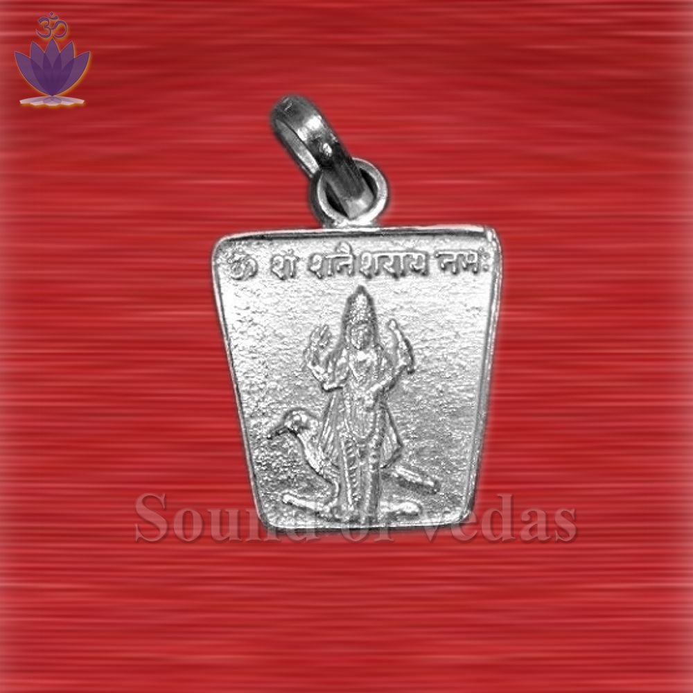 Saturn / Shani Yantra Locket - Silver