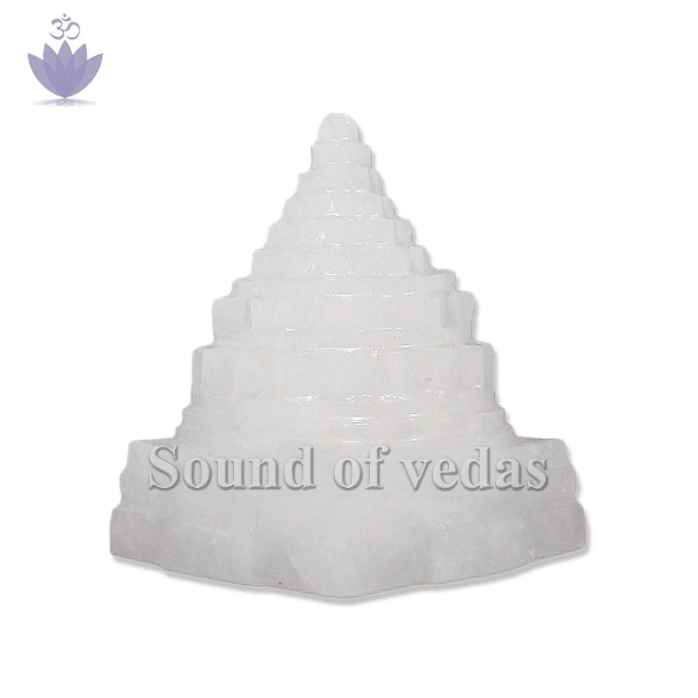 Shree Yantra in White Jade Gemstone - 190 gms