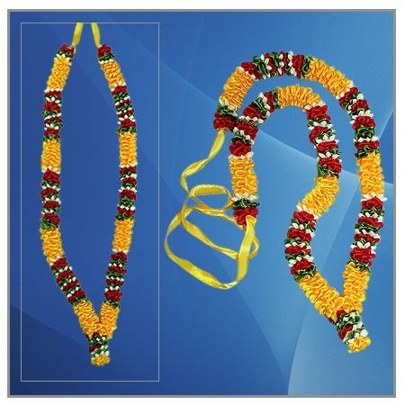 Deity Garland in Red Yellow Colour  Online Store in USA/UK/Europe