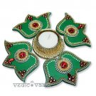 Green Lotus Rangoli Online Store in USA/UK/Europe