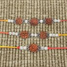 Designer Rakhi with Rudraksha Beads - Set of 3 Buy Online in USA/UK/Europe