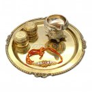 Brass Puja Thali with Mauli  Online Store in USA/UK/Europe