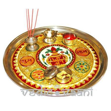 Meenakari Puja Thali Online Store in USA/UK/Europe
