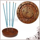 Wooden Star Round Incense Plate Buy Online in USA/UK/Europe