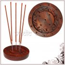 Wooden Lotus Round Incense Plate Online Store in USA/UK/Europe