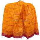 Jai Shri Ram Shawl - Orange  Buy Online in USA/UK/Europe
