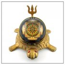 Shree Yantra on tortoise with Trishul - Design II Buy Online in USA/UK/Europe