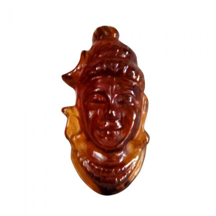 Face of Shiva in Gomedh / Hessonite - 16 carat  Buy Online in USA/UK/Europe