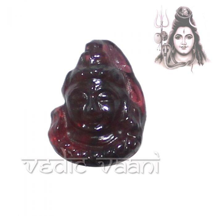 Shiva Face in Garnet Gemstone Buy Online in USA/UK/Europe