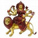 Sherawali Maa Statue In Antic Finish Buy Online in USA/UK/Europe