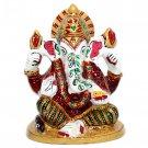Lord Ganpati Figurine Hand Painted  Buy Online in USA/UK/Europe