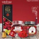 Vedic Vaani Natural Red Rose Flavor Fragrance Essential Premium Incense Set