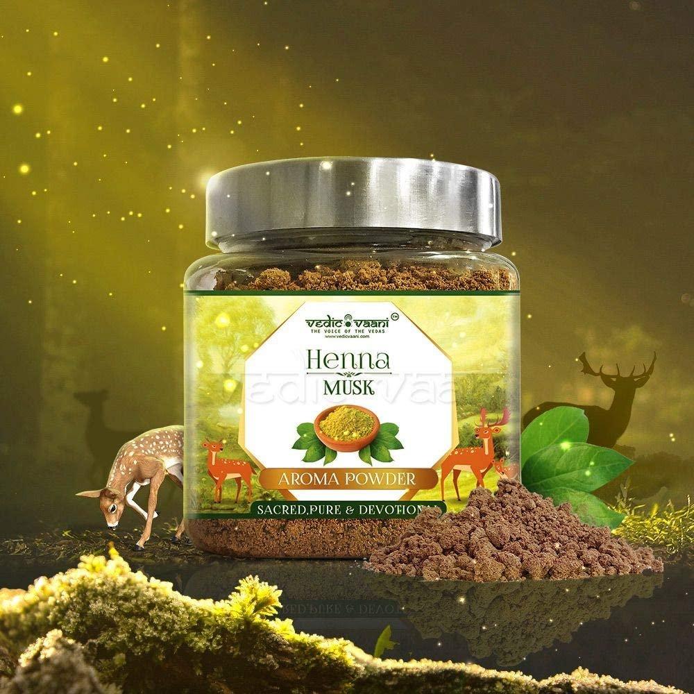 Vedic Vaani Natural Fragrance Musk Henna Dhoop Incense Powder