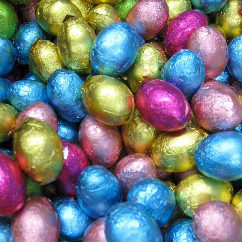 Foiled Chocolate eggs 500g