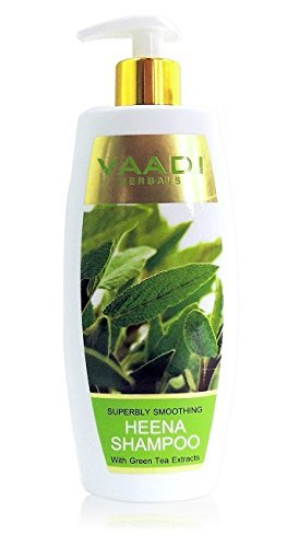 Vaadi Superbly Smoothing HEENA SHAMPOO with Green Tea Extracts 350 ml