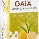 Gaia Green Tea + Lemon 50 Tea Bags