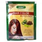 20 Sachets Sunny Herbals Burgundy Hair Color (with Arnica, Jaborandi) 10 gms