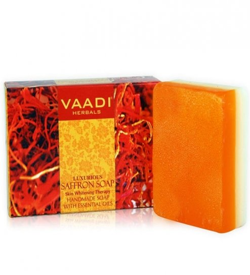 LUXURIOUS SAFFRON SOAP - Skin Whitening Therapy 300 gms
