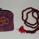 Holy Red Sandalwood Beads Japa Mala Rosary of 108 Beads